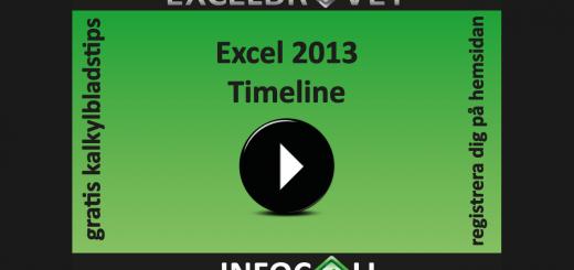 Timeline Tidslinje Excel 2013