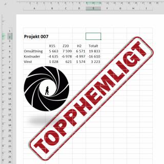 vattenstämpel i Excel