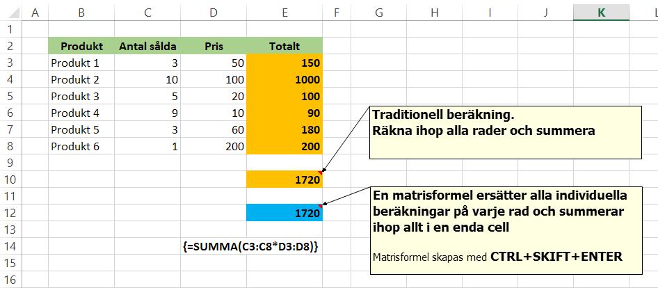 Matrisformel