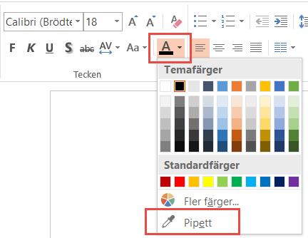 Hitta rätt färg med pipetten i PowerPoint