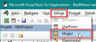 funktion bladnamn Excel