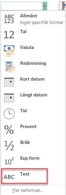 15 siffror är max i Excel
