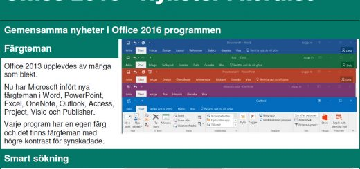 Nyheter Office 2016