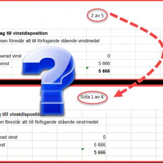 sidnumrering Excel