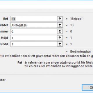 FÖRSKJUTNING Excel