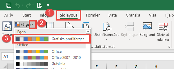 grafisk profil färger tema office