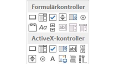 ActiveX kontroll knapp