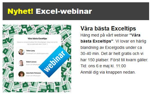 Excel webinar