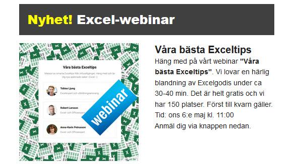 Exceltips webinar
