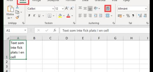 Radhöjd i Excel