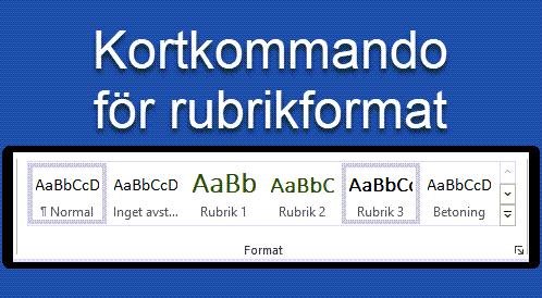 Rubrikformat Word