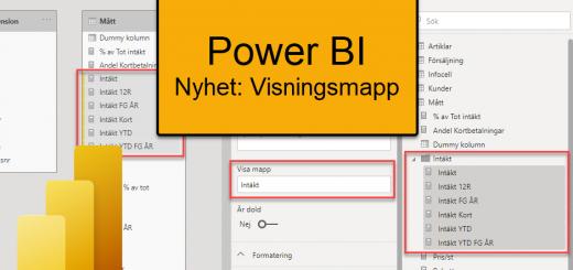 Power BI visningsmapp