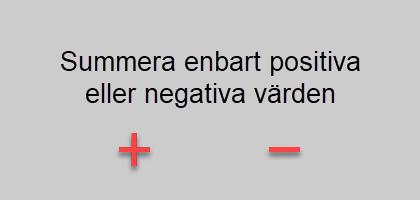 positiva eller negativa