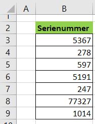Serienummer som underlag