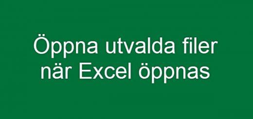 filer Excel start